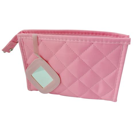 Pink Pouch 25s8 sodial r pink zipper closure small pouch cosmetic bag for