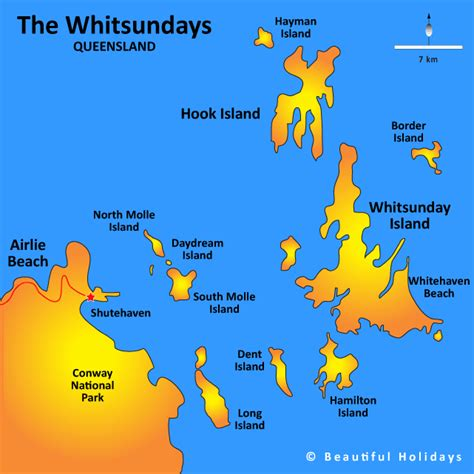 map of australia and islands whitsunday islands map showing attractions accommodation
