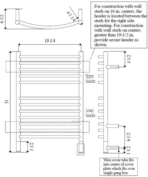 towel warmer wiring diagrams wiring diagrams