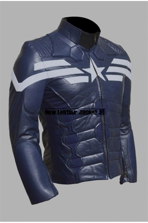 Jacket Captain America captain america the winter soldier leather jacket