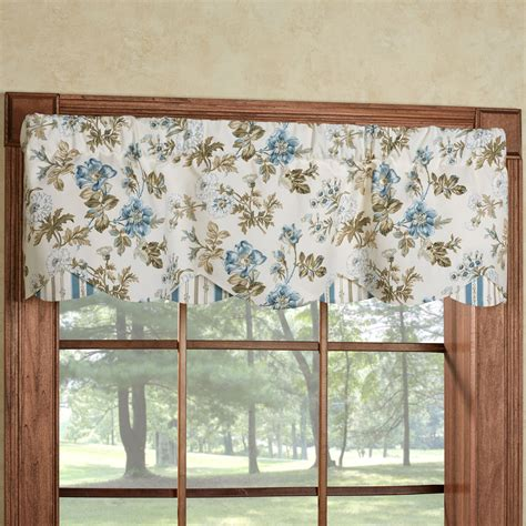 window valances farrell light cream floral layered window valance
