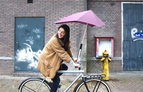 cycling rain bike umbrella gets major media attention
