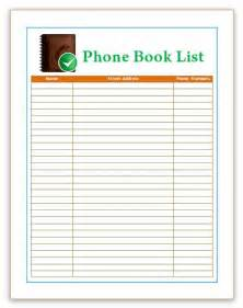directory template phone book template