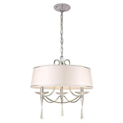 hton bay halina collection 3 light chrome drum pendant
