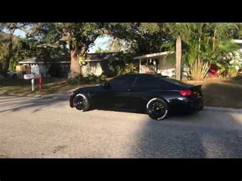 2015 bmw m4 f82 lowered on h&r springs with michelin tires