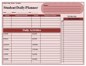 Free Student Planner Template Daily Planner Template Quotes Lol Rofl Com