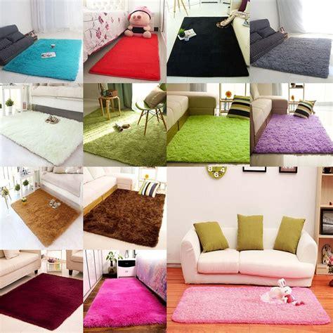 soft modern shag area rug living room carpet bedroom - Soft Area Rugs For Living Room