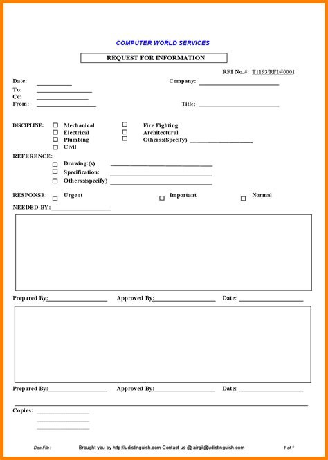 Construction Template Construction Rfi Template Construction Rfi Template Free Rfi Form Template