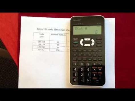 calculator antilog moyenne et 233 cart type sharp el 531x tableaux avec