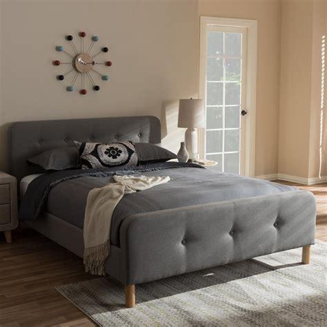 baxton studio samson mid century gray fabric upholstered
