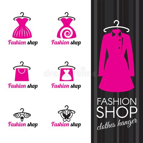 Butterfly Logo Bag fashion shop logo clothes hanger and dress shopping bag