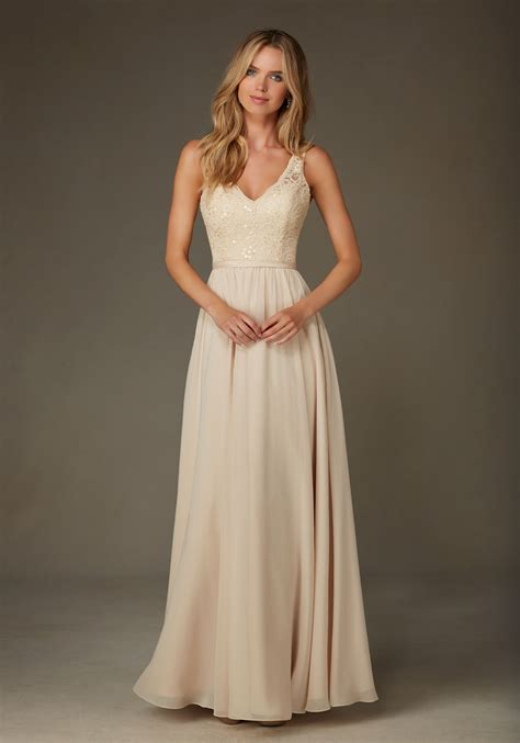 Wedding Dresses Bridesmaid by Beaded Lace With Chiffon Bridesmaid Dress Style
