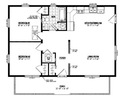 cottage plans 24 x 30 home deco plans