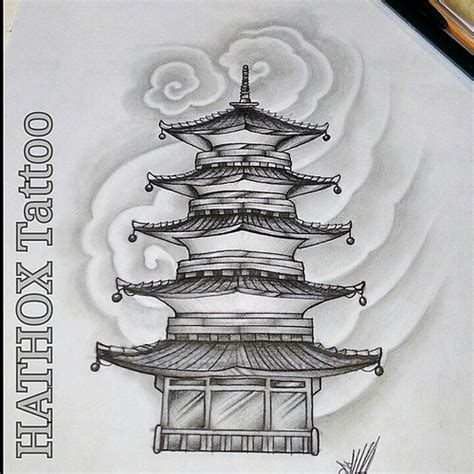 pagoda tattoo designs estudos templo temple pagoda faith