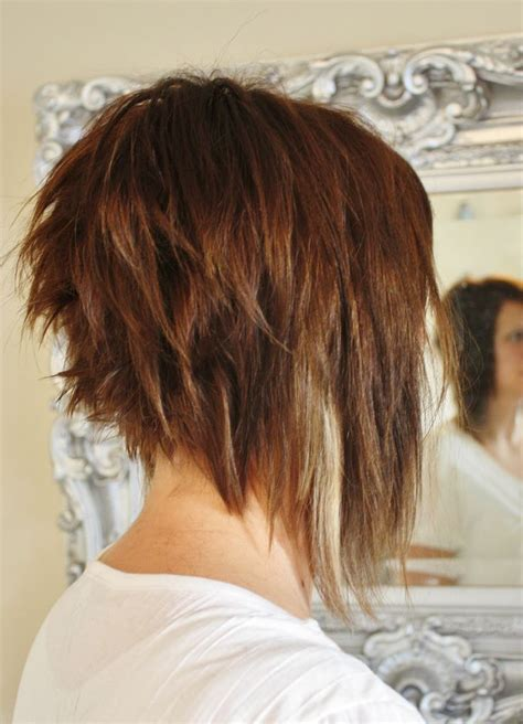 stacked bob haircut long points in front i like the back of this look too long in the front though