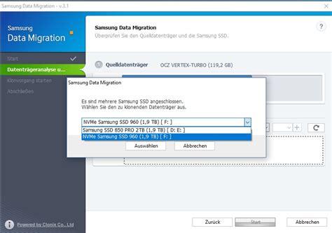 Samsung Data Migration Einbau Einer Neuen Ssd So Funktioniert Die Daten 252 Bertragung Zdnet De