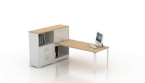 bureau haut bureau droit epure 160x80 avec meuble de rangement haut