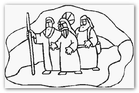 coloring page of jesus on the road to emmaus road to emmaus coloring page