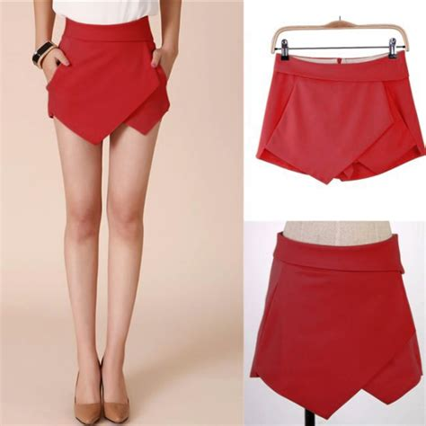 casual irregular tiered culottes skorts shorts skirt