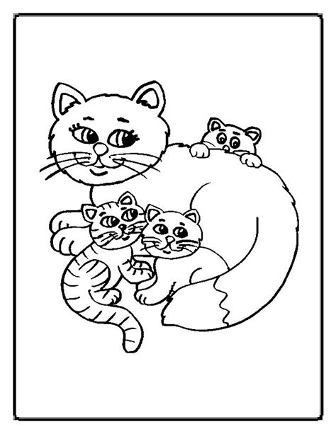 Cat Coloring Pages Moms Who Think Coloring Pages Kittens