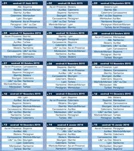 pro d2 le calendrier 2015 2016 actu rugby