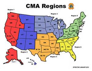 the state of map cma region state map