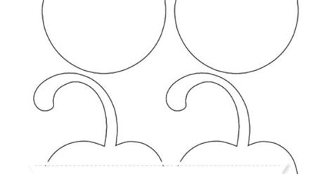 free printable medium cherry with curled stem template