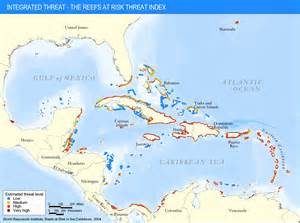 reefs threatened by human activities the reefs at risk
