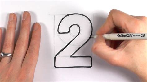 Drawing 2 Year by How To Draw A Number 2