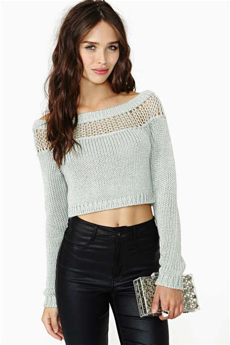 Sweeter Crop how to wear cropped sweaters 2018 fashiongum