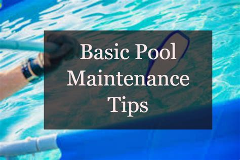 pool maintenance tips 10 pool maintenance tips infographic