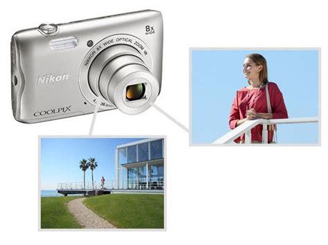 Nikon A300 Blacksilverred official nikon a300 coolpix digital silver black pin k 8gb sandisk sdhc nikon