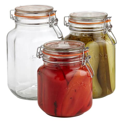 kilner square hermetic glass canning jars the container store