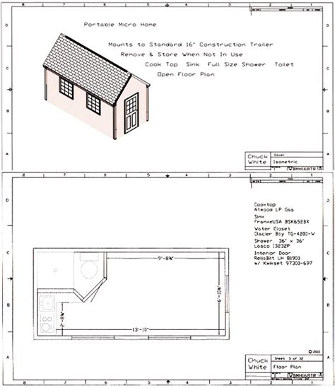 Walt S Micro Home Plans Tiny House Plans Costs