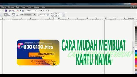 membuat kartu nama dengan coreldraw x6 tutorial cara membuat kartu nama dengan coreldraw x6 hd