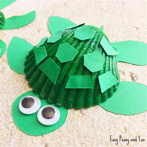 turtle crafts for seashell turtle craft seashell craft ideas easy peasy