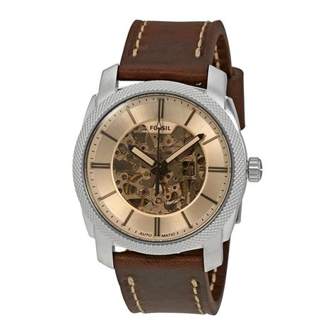 Fossil Me3115 fossil machine automatic brown leath end 6 26 2017 2 15 am