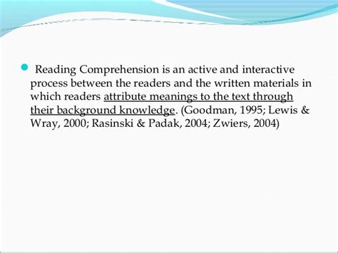 thesis abstract about reading comprehension dissertation reading comprehension