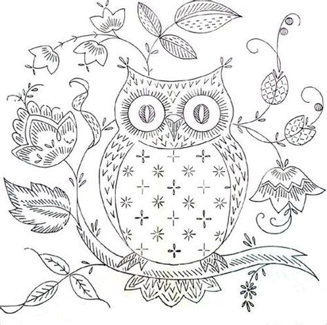vintage owl pattern 47 best images about free hand embroidery patterns from