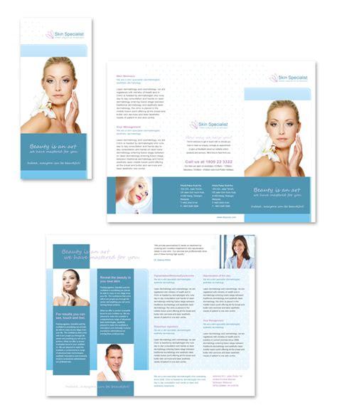 Skin Specialist Centre Tri Fold Brochure Template Dlayouts Graphic Design Blog Free Skin Care Brochure Templates