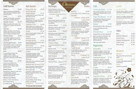 ottoman menu menu picture of ottoman turkish newcastle newcastle