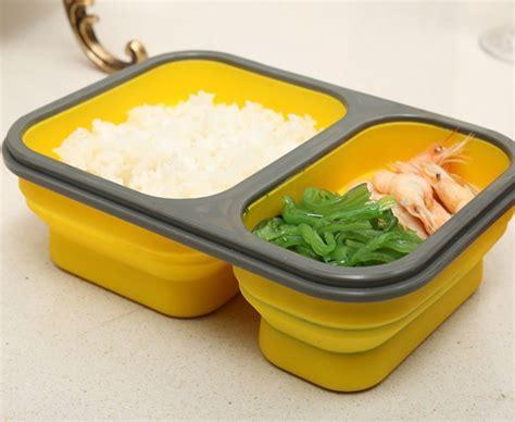 Bento Microwave 1 Wrna Optional produs 2 cells silicone collapsible portable bento box 900ml microwave oven bowl folding food