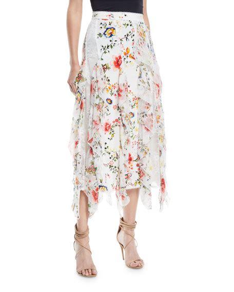 Lace Godet Maxi Skirt dolce gabbana banana leaf print maxi tank dress white
