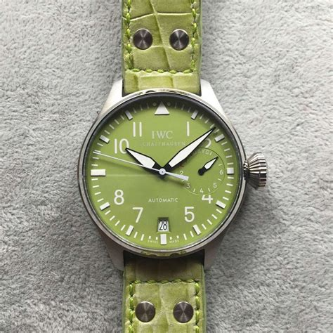 Iwc Green Angka Green iwc big pilot 5002 replica a25j green