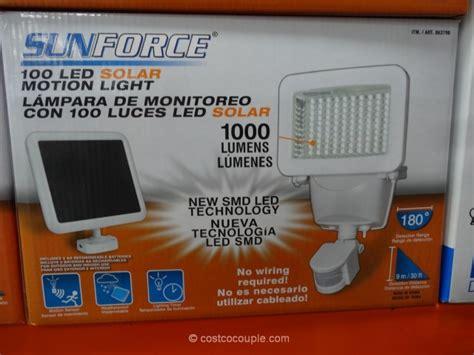 solar motion sensor light costco sunforce led solar motion security light