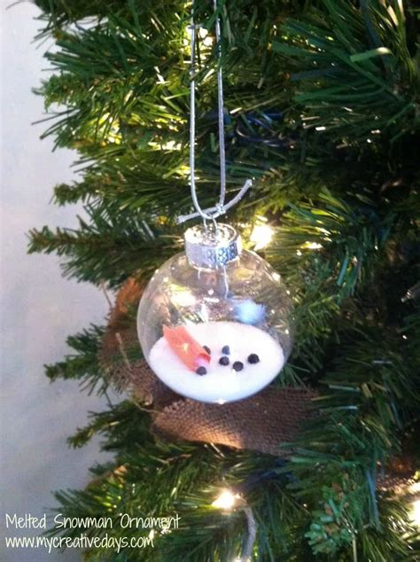 homemade christmas decorations for the home melted snowman ornament my creative days