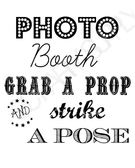 25 Best Ideas About Photo Booth Signs On Pinterest Diy Photo Booth Photo Booth Props And Free Printable Photo Booth Sign Template