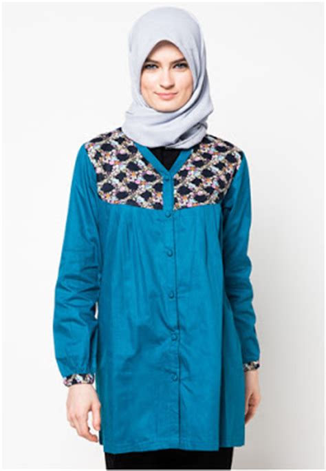 Blus Muslim Tunik Blazer W4ue 24 foto desain atasan muslimah modern terbaru kumpulan