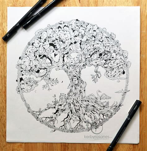 doodle drawing books new impressively detailed doodles by kerby rosanes