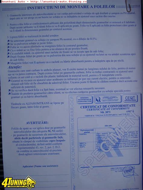 Folie Llumar Rola by Omologare Folie Cu Aviz R A R 50 Lei 225087